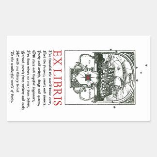 Etiquetas do Bookplate da aventura do navio de