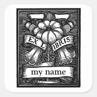 Etiquetas do Bookplate da flor