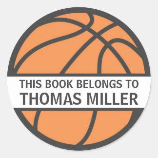 Etiquetas do bookplate do basquetebol para miúdos