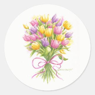 Etiquetas do buquê da tulipa da aguarela