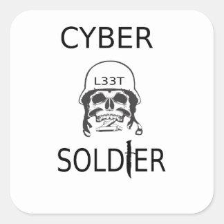 Etiquetas do cabouqueiro do soldado do Cyber
