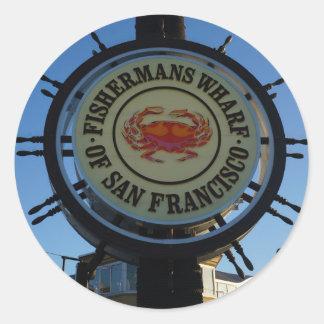 Etiquetas do cais de San Francisco Fishermans
