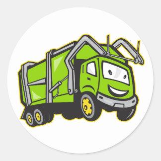 Etiquetas do caminhão dos desperdícios adesivo redondo