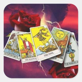 Etiquetas do cartão de Tarot