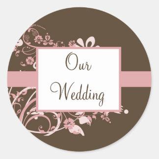 Etiquetas do casamento adesivo