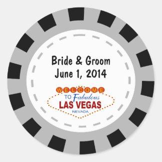 Etiquetas do casamento da microplaqueta de póquer adesivo