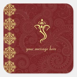 Etiquetas do casamento de Vinayaka Adesivos Quadrados