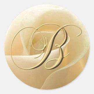 Etiquetas do casamento do monograma - letra B Adesivo