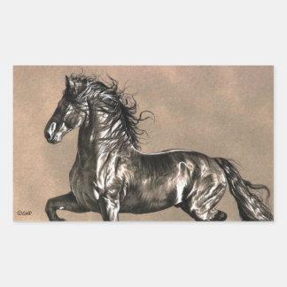 Etiquetas do cavalo do frisão