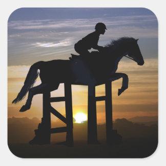 Etiquetas do cavalo e do cavaleiro da ligação em