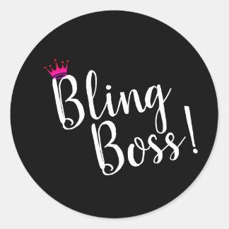 Etiquetas do chefe de Bling