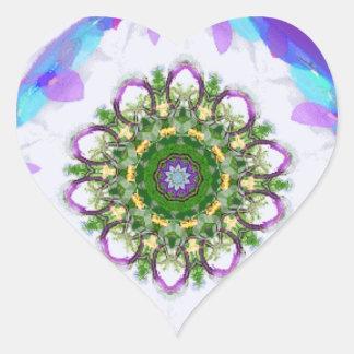 Etiquetas do coração 2 do caleidoscópio adesivo coração