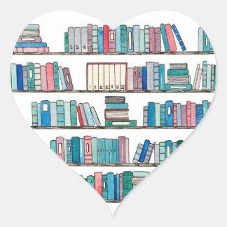 Etiquetas do coração da estante