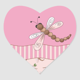 Etiquetas do coração das flores de cerejeira e das adesivo coração
