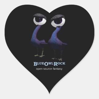 Etiquetas do coração de BlueOwlRock do pássaro