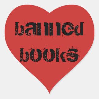 Etiquetas do coração do amor do livro proibido