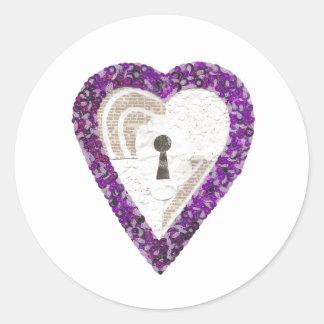 Etiquetas do coração do cacifo