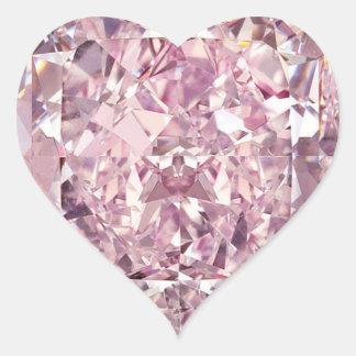 Etiquetas do coração do diamante de Bubblegum Adesivo Coração