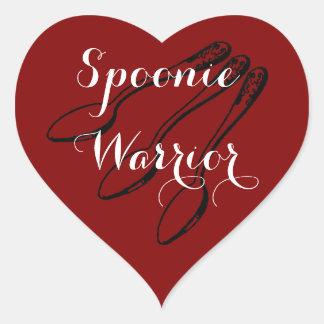 Etiquetas do coração do guerreiro de Spoonie