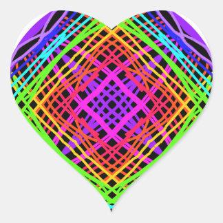 Etiquetas do coração. Linhas de cruzamento.