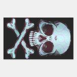 Etiquetas do crânio do Grunge Adesivo Retangular