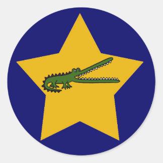Etiquetas do crocodilo da estrela do ouro dos BN Adesivo