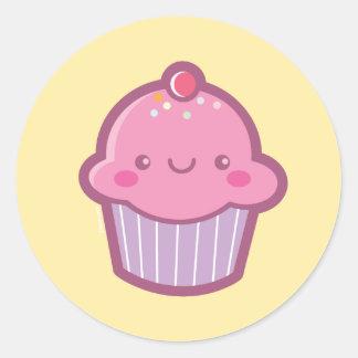 Etiquetas do cupcake de Kawaii Adesivo