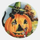 Etiquetas do Dia das Bruxas do vintage - doçura ou Adesivos