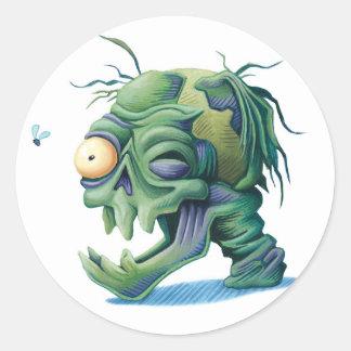 Etiquetas do Dia das Bruxas do zombi