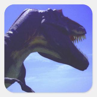 Etiquetas do dinossauro adesivo quadrado