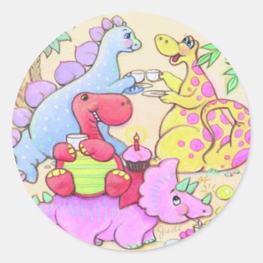 Etiquetas do dinossauro adesivos