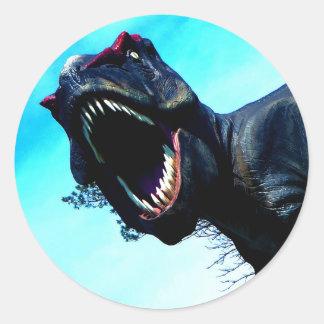 Etiquetas do dinossauro adesivo em formato redondo