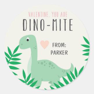Etiquetas do dinossauro dos namorados da sala de adesivo