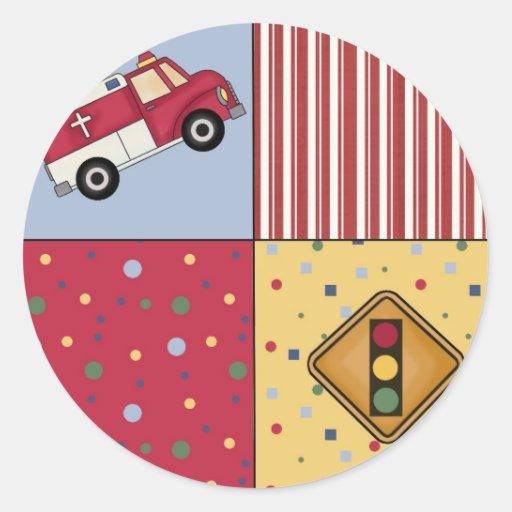 Etiquetas do divertimento do caminhão do ER do Adesivos Redondos