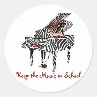 Etiquetas do ~ do piano de cauda da zebra adesivo