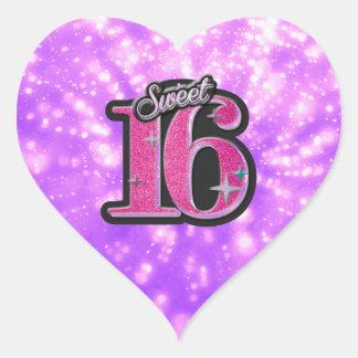 Etiquetas do doce 16 adesivo coração