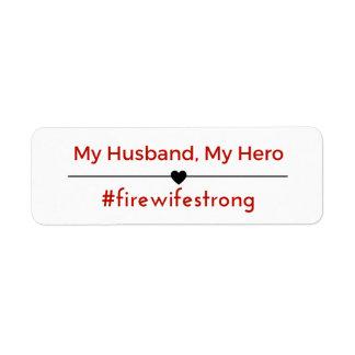Etiquetas do endereço de FireWifeStrong Etiqueta Endereço De Retorno