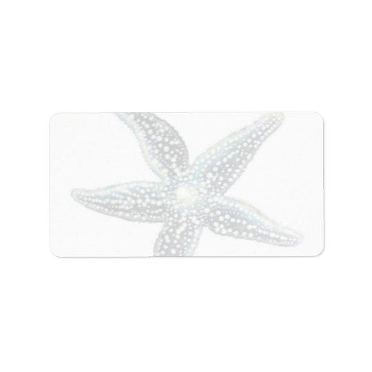 Etiquetas do enviamento da estrela do mar etiqueta de endereço