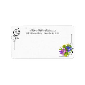 Etiquetas do enviamento do Victorian com acentos