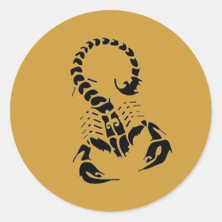 Etiquetas do escorpião adesivo