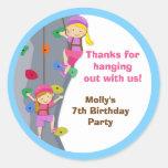 Etiquetas do favor de festa de aniversário da adesivos em formato redondos