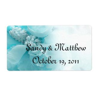 Etiquetas do favor do casamento