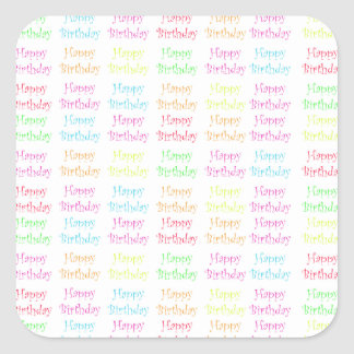 Etiquetas do feliz aniversario