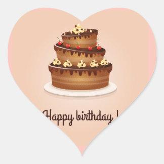 etiquetas do feliz aniversario adesivo coração
