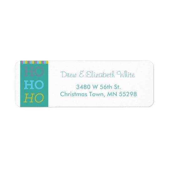 Etiquetas do feriado de HOHOHO