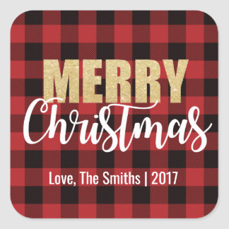 Etiquetas do feriado do Feliz Natal na parte
