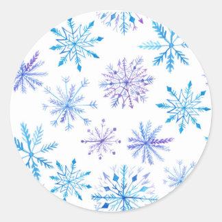 Etiquetas do floco de neve da aguarela