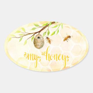 Etiquetas do frasco do mel do Apiary da abelha