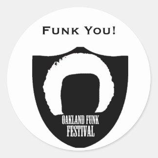 Etiquetas do funk de Oakland Adesivo