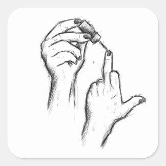 Etiquetas do gesto de mão